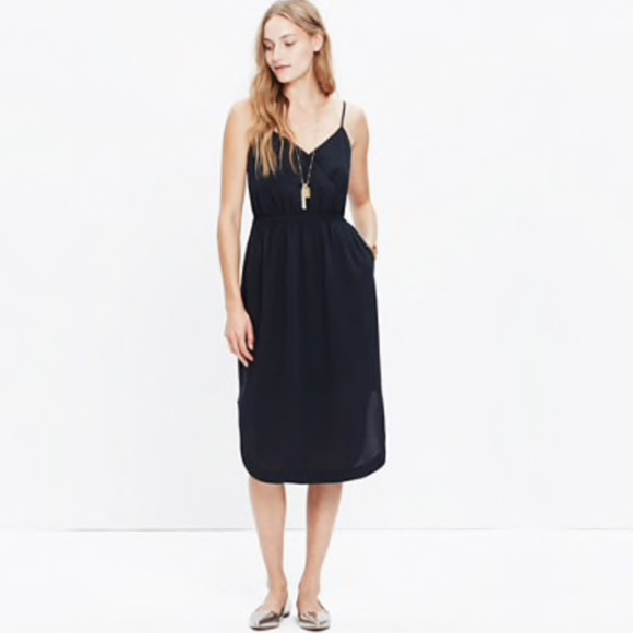 11a6bd5339371 Madewell Dresses & Skirts - Madewell wrap-front cami dress in true black